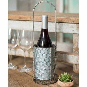 Chicken Wire Wine Bottle Carrier
